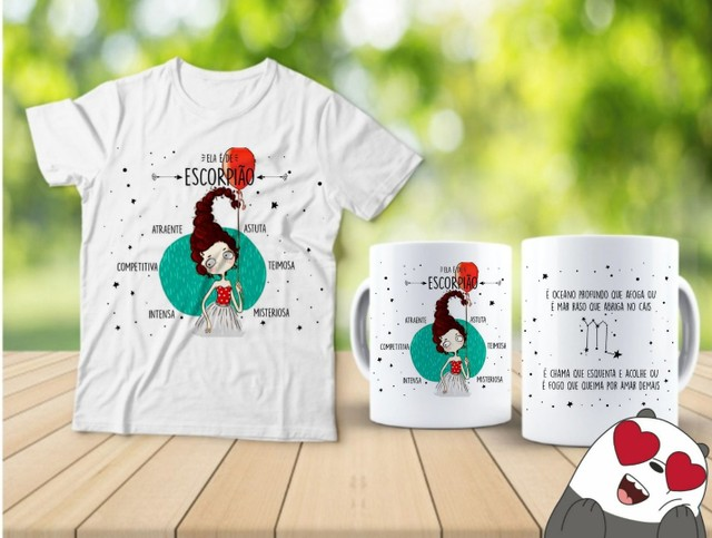 Kit camiseta e Canecas signos  - Foto 2