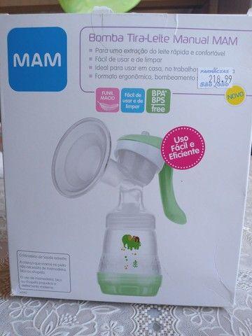 Bomba tira leite manual mam - Foto 4
