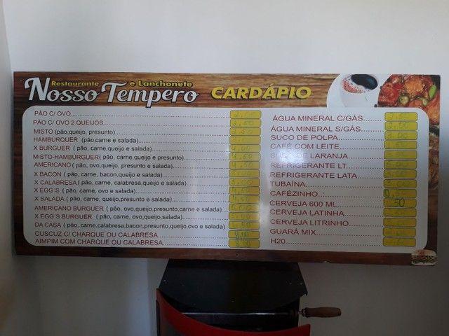 Cavalete placa de preços e balcão para comércio zap. *83 - Foto 3