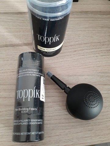 Kit Toppik Hair 27.5g Fibras de Queratina com Bico Borrifador - Foto 3