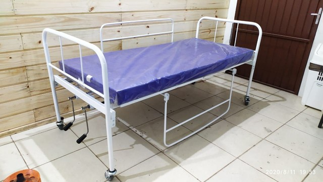 Cama Hospitalar 2 Manivelas