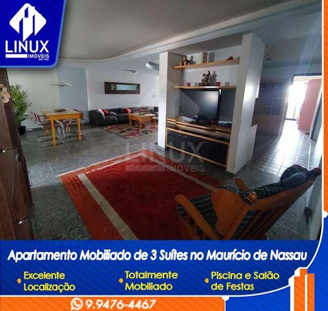 Alugo Apartamento mobiliado de 04 quartos (03 suítes), em Caruaru/PE - Foto 4