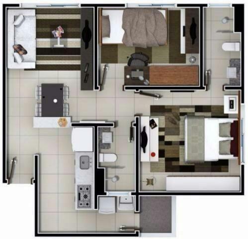 Aluguel, Ap Novo 405 sul, próximo à Havan, 3° andar, Residencial Santos Dumont