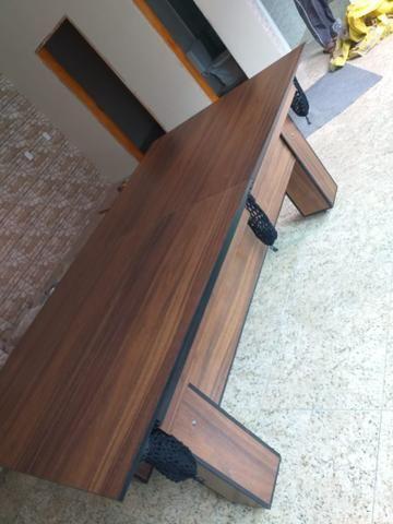 Mesa de Bilhar Tecido Verde Cor Tabaco Tx Modelo MDR0651 - Foto 3