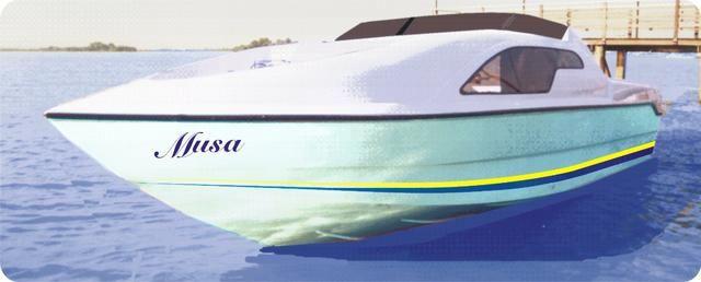 Lancha musa 19 cabinada - motor johnson 115 hp