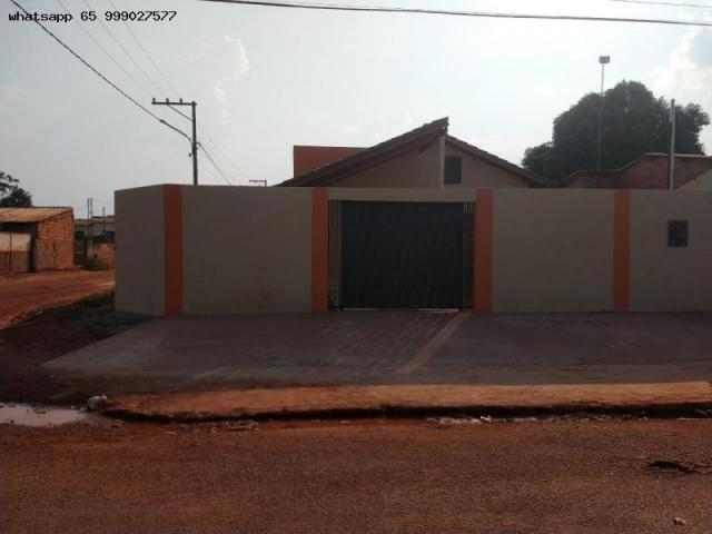 Casa para venda em várzea grande, santa isabel, 2 dormitórios, 1 banheiro, 2 vagas