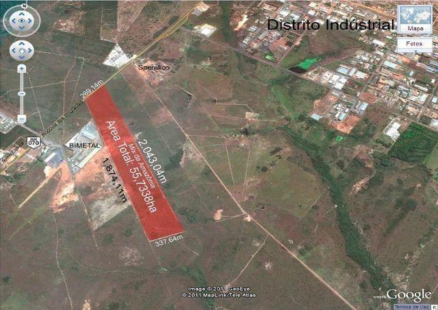 Area c/ 550.000m2, frente Rod Imigrantes, Reg Distrito, Cuiabá-MT