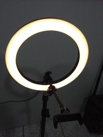 Ring Light Portátil iluminador led USB Tripé de 1,80  - Foto 4
