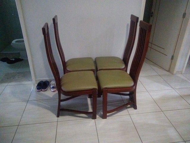4 cadeira de madeira nova promoção 450  - Foto 2
