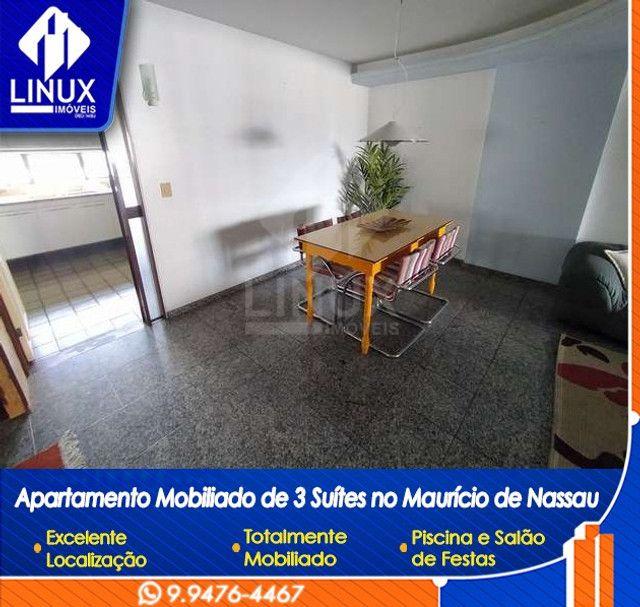 Alugo Apartamento mobiliado de 04 quartos (03 suítes), em Caruaru/PE - Foto 3
