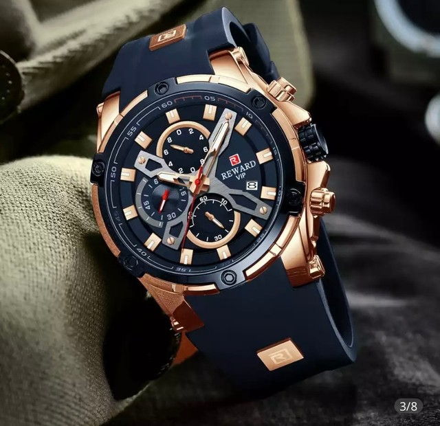 Relógio Masculino Importado Original Reward Super Premium   - Foto 3