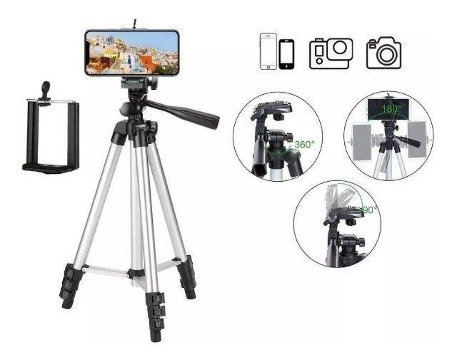 Tripé Universal Telescópico Para Câmera E Celular 1,02m - Foto 4