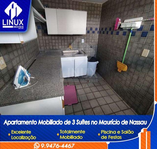 Alugo Apartamento mobiliado de 04 quartos (03 suítes), em Caruaru/PE - Foto 15