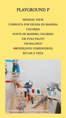 Acessorios e playground pra aves em geral