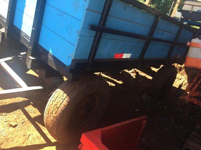 Carretinha 4 pneus  - Foto 3