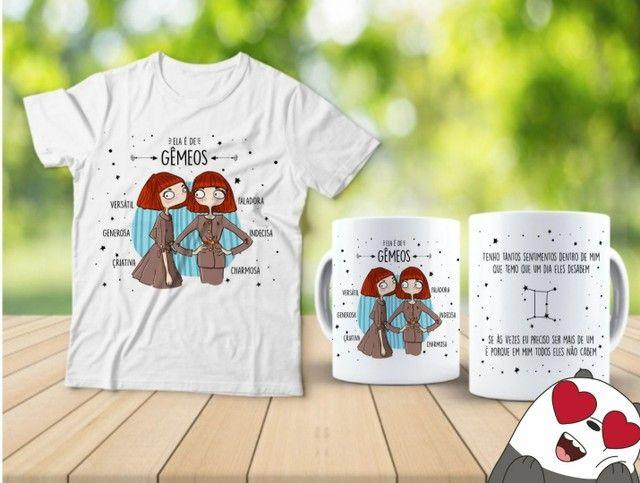 Kit camiseta e Canecas signos  - Foto 3