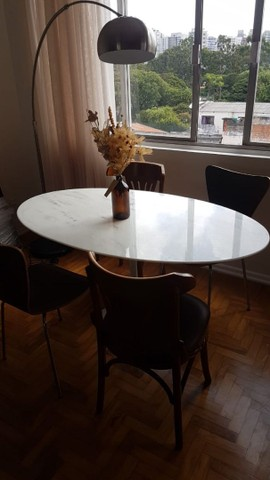Mesa saarinen oval jantar tampo em branco extra 1,80X1,00 - Foto 4