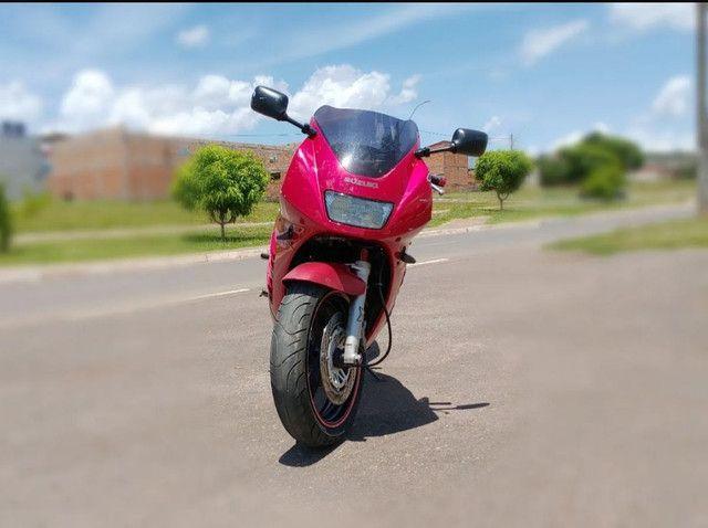 Moto Esportiva Suzuki Rf900r Vermelha<br><br> - Foto 9