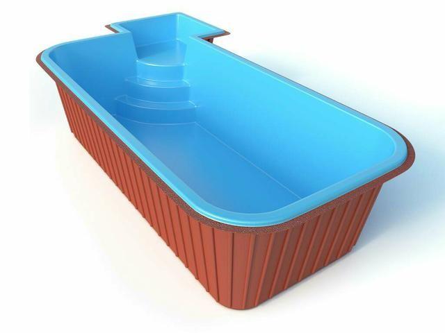 Piscina de fibra at 24x no boleto jardinagem e for Lider piscinas