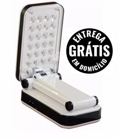 Luminaria de mesa articulavel 24 leds dp recarregável bivolt - entrega grátis