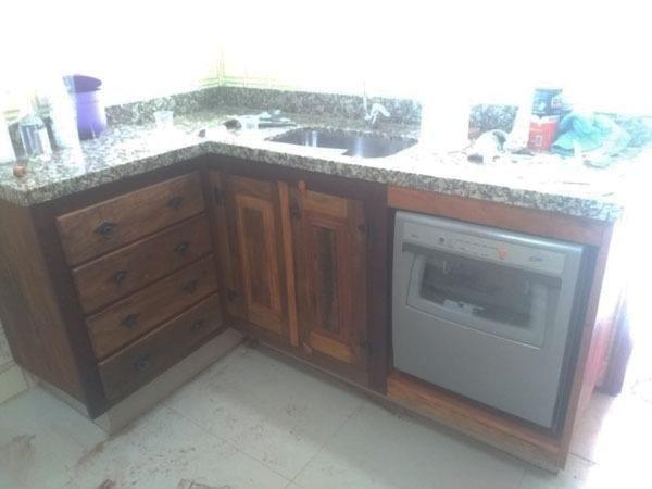 Gabinete De Cozinha Demolição Sob Medida