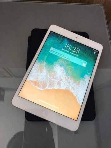 IPad Mini 2 - 32Gb + Smart Case Original Apple de Couro Legítimo Marinho - Foto 4