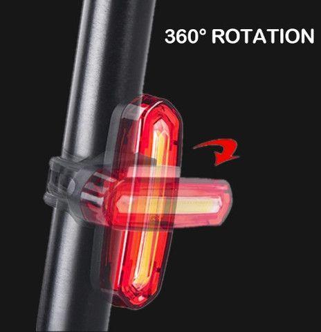 Luz Traseira Sinalizador Led Bike Recarregável - Foto 3