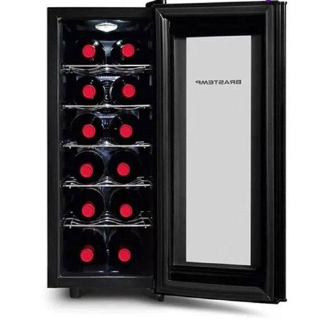 Adega Climatizada Brastemp Wine Cooler BZC12BE para 12 Garrafas 50W All Black - 220V - Foto 3