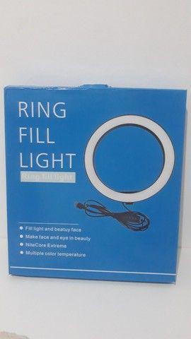 Ring Light 26cm + tripé de mesa + suporte para celular - Foto 2