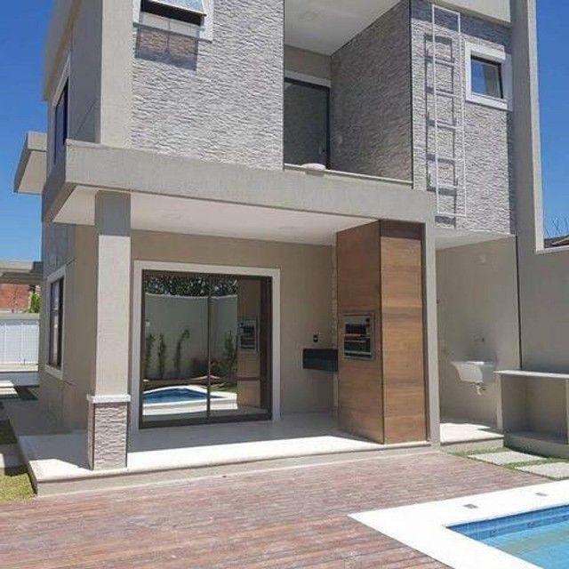 Casa com piscina em rua privativa, casa nova nunca habitada #ce11 - Foto 2