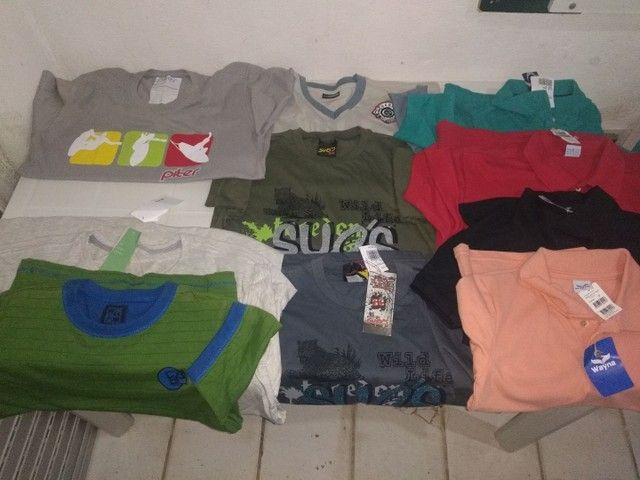 Vendo camisas e camisetas de marca original - Foto 3