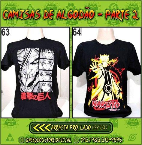 Camisas Geek Nerd Gamer Otaku - NerdDog Store - Naruto, Dragonball, One Piece, etc - Foto 5
