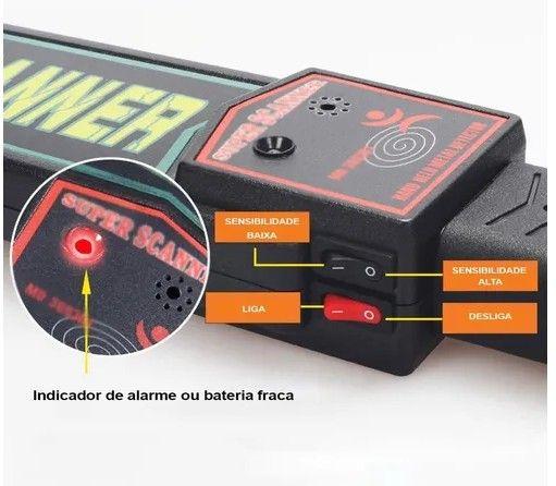 Detector de metais Super Scanner para seguranças - Foto 6