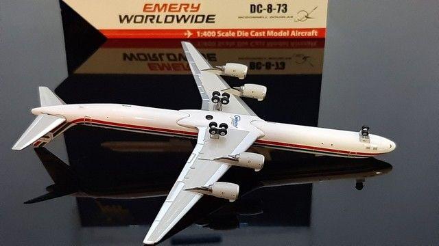 Miniatura avião<br> Emery worldwide <br>escala 1.400 gemini jets - Foto 6