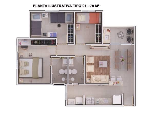 Apartamento Villa Unita Americana/SP - Foto 2