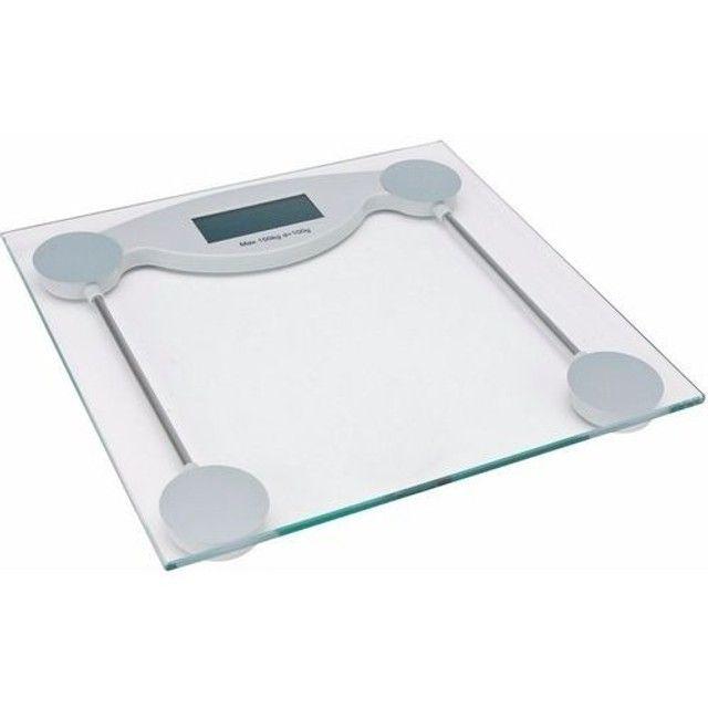 Balança Visor Digital P/ Banheiro Vidro Temperado 150Kg