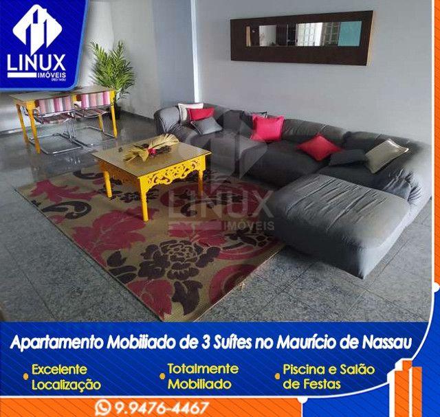 Alugo Apartamento mobiliado de 04 quartos (03 suítes), em Caruaru/PE - Foto 2