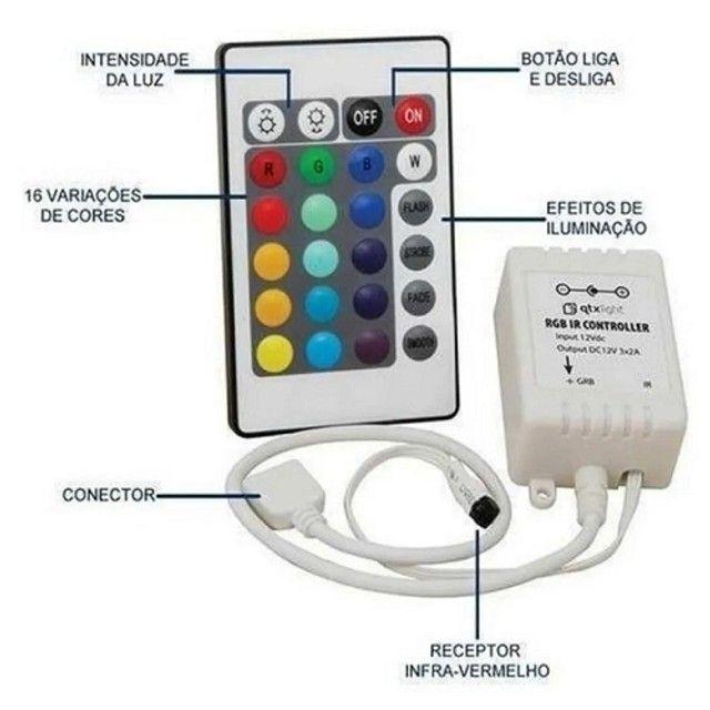 Controle Remoto E Controladora P/ Fita Led RGB 3528/5050 - Foto 5