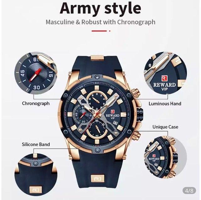 Relógio Masculino Importado Original Reward Super Premium   - Foto 5
