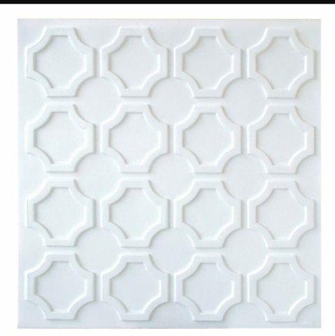 Placa 3D pvc para teto ou parede 50x50cm $7,75 - Foto 6