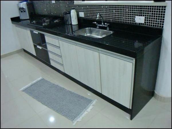 Armario De Cozinha Sob Medida Rj : Arm?rio de cozinha sob medida mdf madeirado e granito