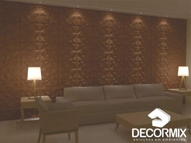 Placa de pvc 3d revestimento de parede objetos de for Placas de pvc para paredes