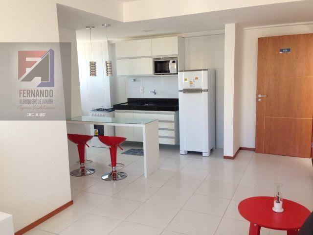 Quarto e sala na Ponta Verde, Nascente, Mobiliado, com Lazer