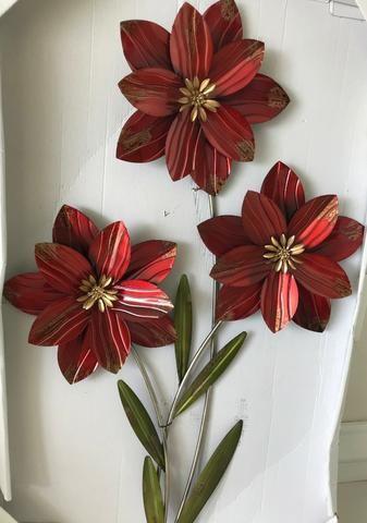 Lindas Flores Em Ferro Fundido Para Parede Objetos De Decoração