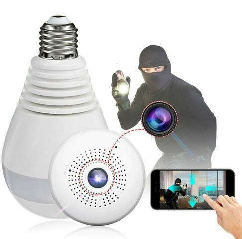 Camera IP 360° Segurança Vigilância Interna Espiã Panorâmica WiFi!!