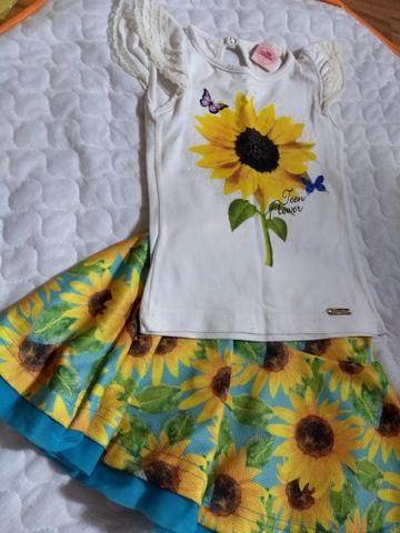 Calçados menina Tam 22/23 e roupas verão Tam 3 - Foto 6