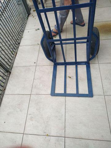 Carrinho de mão carga transporte 500 kilos kg - Foto 3