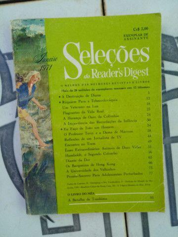 Revistas SELEÇÕES antigas de 1954 à 1971 - Foto 3