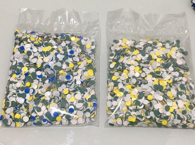 Confetes de Papel com as Cores do seu Time do Coração - Foto 4