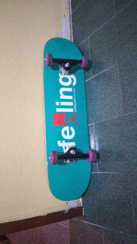 Skate novo troco em longboard pra hoje